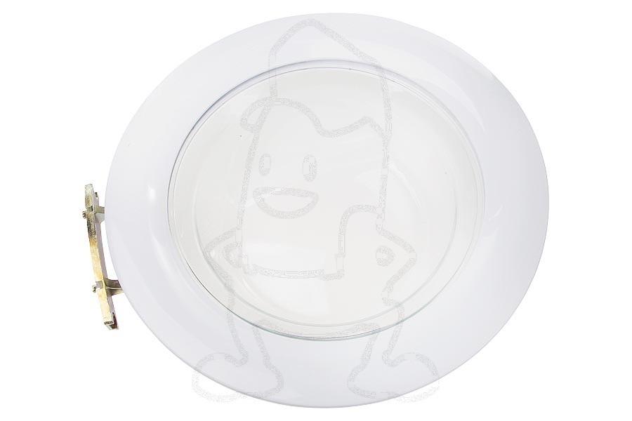 Hublot complet avec vitre blanc machine laver 91670645 - Laver vitre vinaigre blanc ...