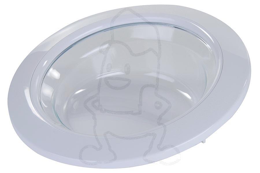Hublot complet avec vitre blanc machine laver 92152826 - Laver vitre vinaigre blanc ...