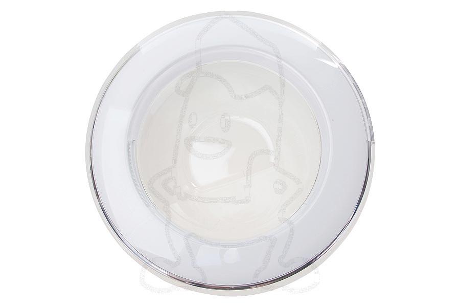 Hublot complet blanc transparent avec vitre machine laver dc9717333a - Laver vitre vinaigre blanc ...