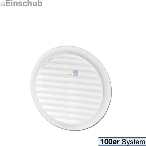 grille d a ration pour conduit rond 100 mm blanche avec. Black Bedroom Furniture Sets. Home Design Ideas