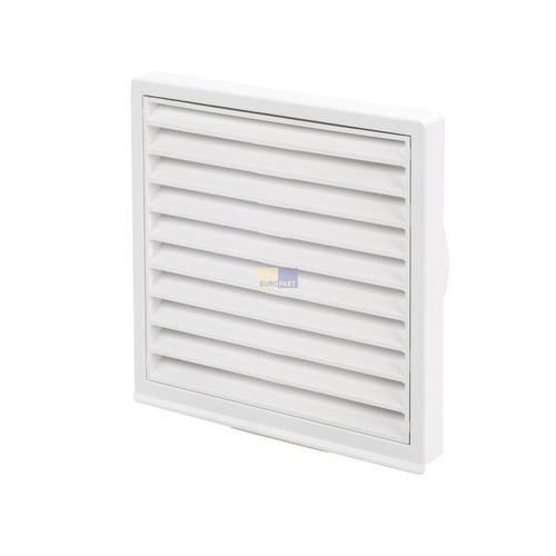 grille ext rieure pour conduit rond 100 mm blanche avec. Black Bedroom Furniture Sets. Home Design Ideas