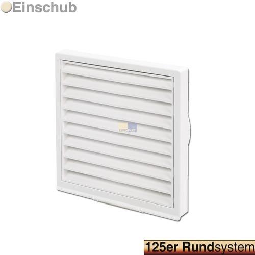 grille ext rieure pour conduit rond 125 mm blanche hotte. Black Bedroom Furniture Sets. Home Design Ideas