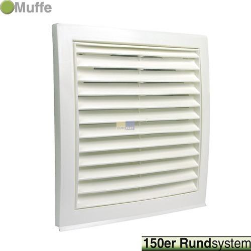 grille ext rieure pour conduit rond 150 mm blanche hotte. Black Bedroom Furniture Sets. Home Design Ideas