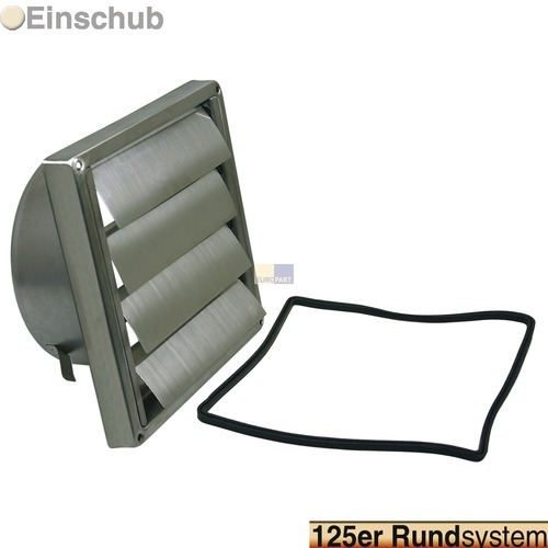 grille ext rieure pour conduit rond 125 mm acier inox. Black Bedroom Furniture Sets. Home Design Ideas