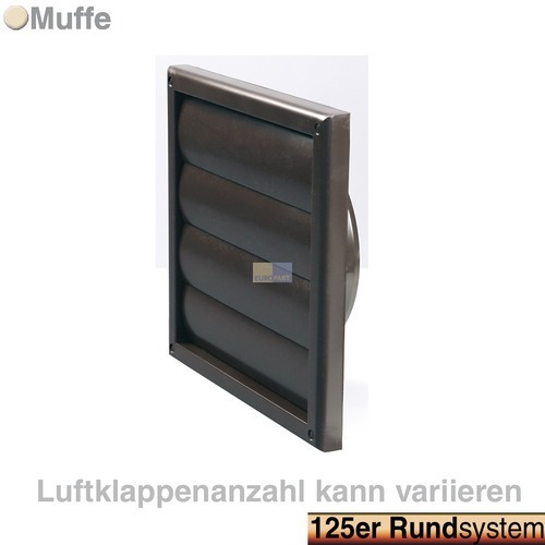 grille ext rieure pour conduit rond 125 mm hotte aspirante. Black Bedroom Furniture Sets. Home Design Ideas