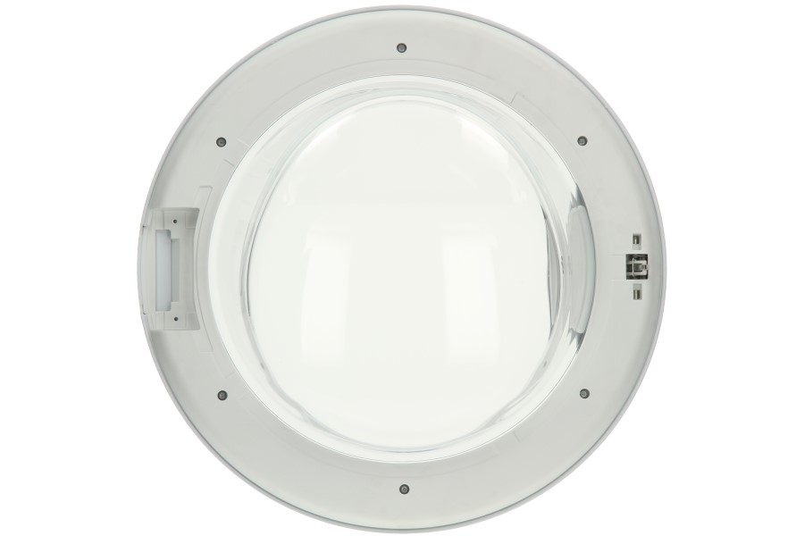Hublot complet avec vitre blanc machine laver 116557 - Laver vitre vinaigre blanc ...
