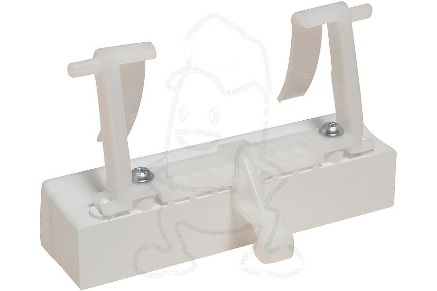 Poignee de porte blanche avec crochet lave vaisselle - Lave vaisselle encastrable avec porte habillable ...