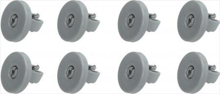 Fiyo Roue Lave vaisselle pour Aeg, Electrolux, Zanussi Panier inférieur 8 Pièces 50286965004