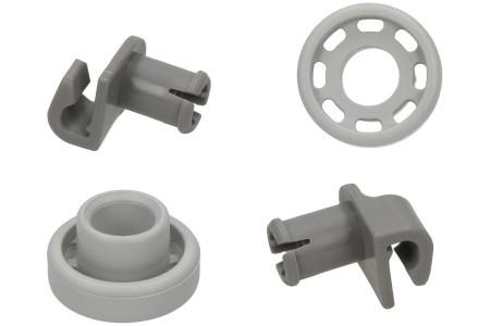 Roue Lave vaisselle pour Bosch, Siemens Panier supérieur 2 Pièces 424717, 00424717