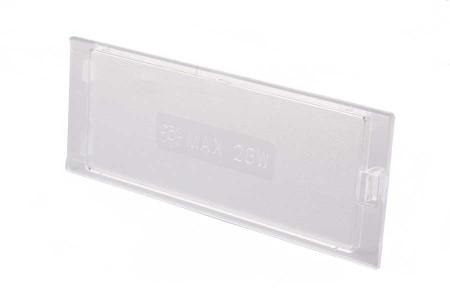 Verre de protection (de l'ampoule - 145x55mm) hotte aspirant 482000008453