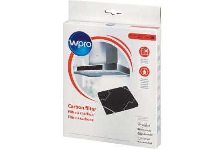 WPRO filtre à charbon (220x180x20mm) hotte aspirante 480181700586, cfw020b