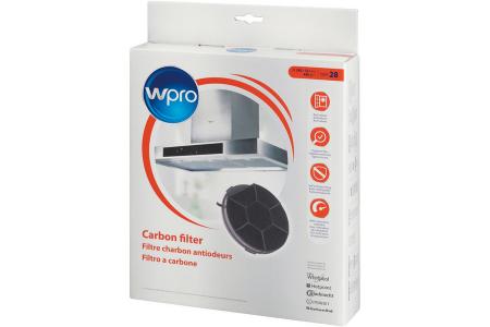 WPRO filtre à charbon type 28dkf606 (Ø240 X 32 mm) hotte aspirante 484000008576, CHF28