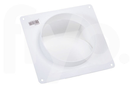 Sortie d'air (extérieur) 125mm en Plastique Blanc 1 Soupape 62500200