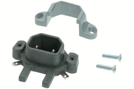 Nilfisk Prise moteur gm80 2 broches  (Avec 2 vis) aspirateur 20705400