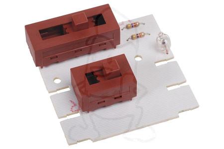 Circuit imprimé (positions + lumière allumée/éteinte) hotte aspirant 481921478247