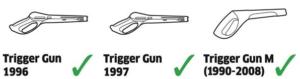 pistolet necessitant l'adaptateur M